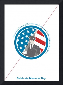 Memorial Day Greeting Card Soldier Military Servi