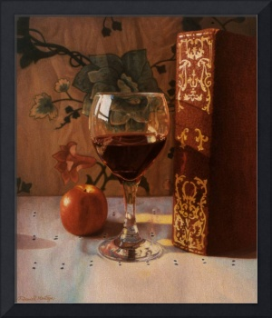Wine Glass & Red Book