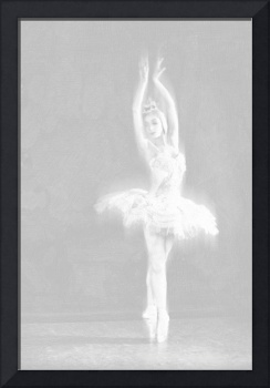 Ballet Dancer Extended White on White