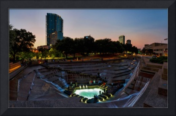Fort Worth Water Garden at Sunset Pano