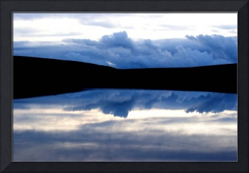 Mirror image - clouds and water