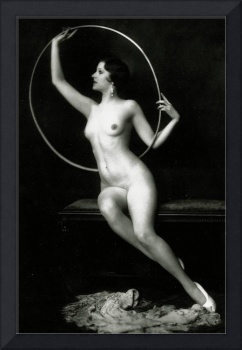 Ziegfeld Follies girl with hula hoop, c.1928 (b/w