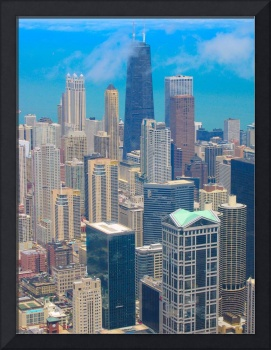 Chicago Skyline Vibrant Colors Effect