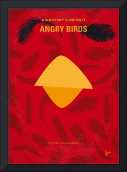 No658 My Angry Birds Movie minimal movie poster