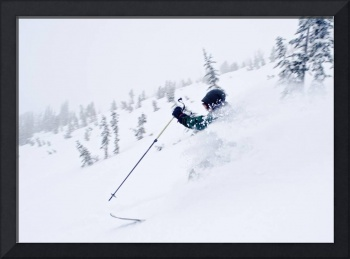 Wallawa Mountains, Oregon, USA, Downhill Skier