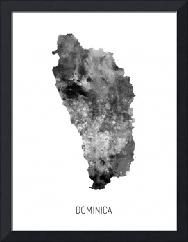 Dominica Watercolor Map