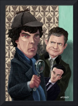 Sherlock Homes Watson and Moriarty at 221B