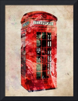 London Telephone Box Urban Art
