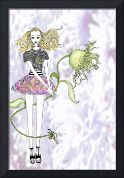 Illustration....Girl with Flower