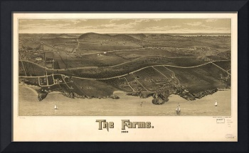1886 Beverly Farms, MA Bird's Eye Panoramic Map
