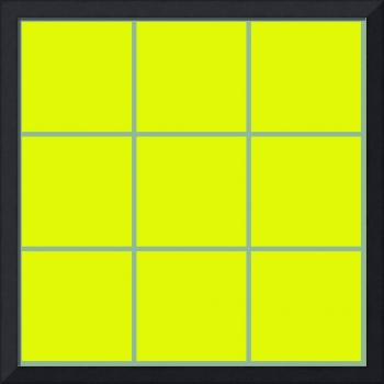 Yellow Window 094 Canvas Contemporary Modern