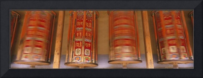 Tibetan Prayer Wheels Gansu Province China