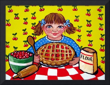 Little Girl With Pie