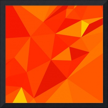 Carrot Orange Abstract Low Polygon Background