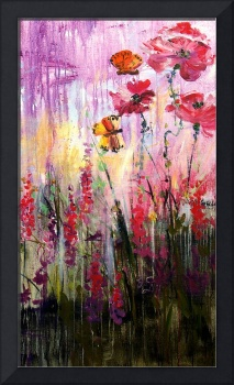 Butterflies Frolicking #2 Painting by Ginette
