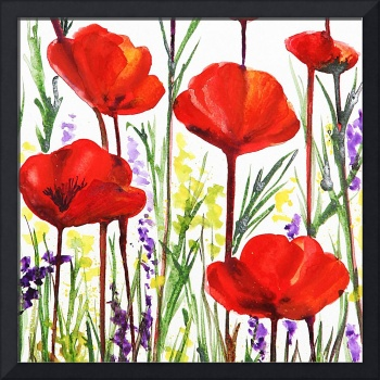 Sweet Red Poppies by Irina Sztukowski