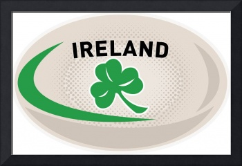 Rugby Ball Ireland Shamrock