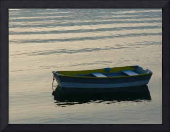 Blue and Yellow Boat #3