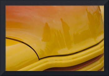 Yellow Hot Rod Hood