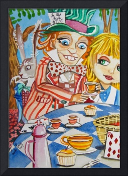 THE MAD HATTER TEA PARTY Alice in Wonderland paint