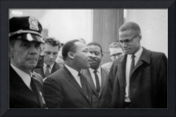 Martin Luther King Jnr (1929-1968) and Malcolm X (