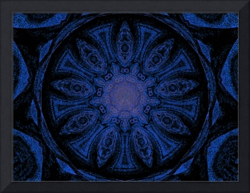 Blue and Black Lotus Petal Mandala