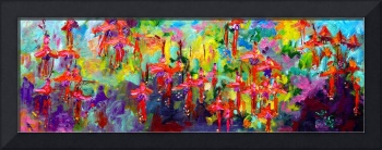 Garden Flowers Impressions Oil Painting