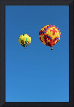 Two Yellow Hot Air Balloons Vertical