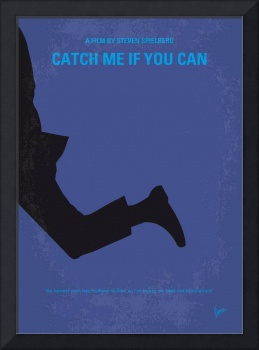 No592 My Catch Me If You Can minimal movie poster