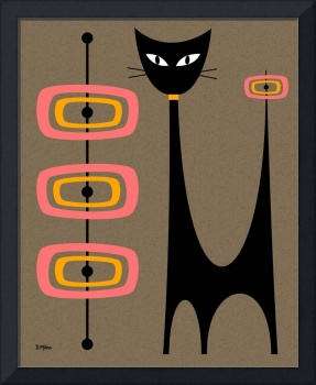 Atomic Cat with Pink and Gold Orbs