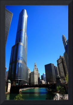 Chicago River and Skyline 2010