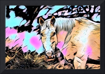 Horse Comic Pop Art
