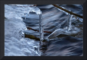 Icicles in River