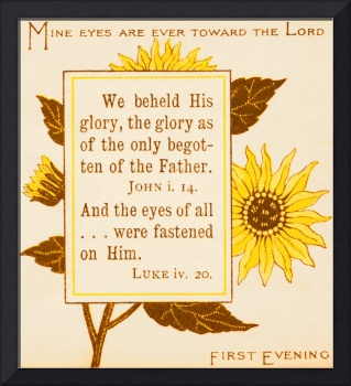 First Evening, from 1890 book Bible Sunflowers