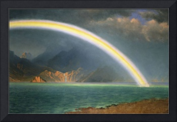 Rainbow Over Jenny Lake, Wyoming, (oil on canvas)