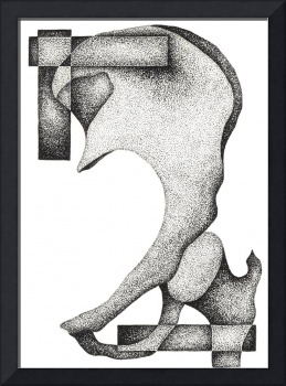 Stippled Illustration Of A Human Hip Bone