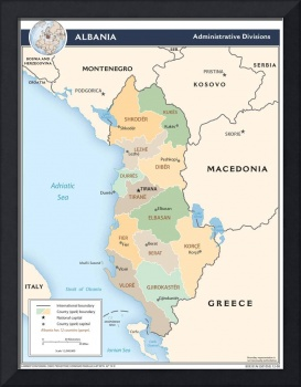 2008 Albania Administrative by The Central Intelli