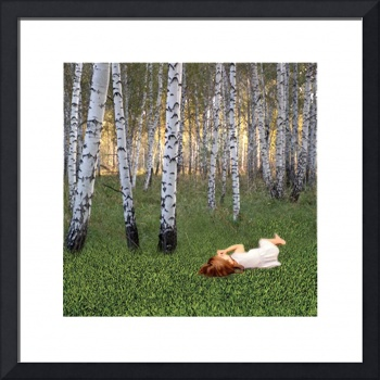 Maritgen Art - Sleeping under  Birches