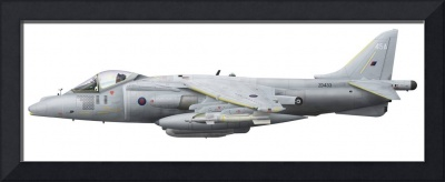 Illustration of a British Aerospace Harrier GR9 ai