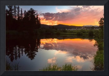 Rollinsville Sunset Reflections