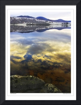 Winter scene on Loch Rannoch, Scotland UK