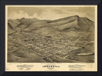 Vintage Pictorial Map of Helena Montana (1875)