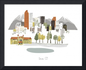 Denver Modern Cityscape Illustration