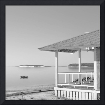 Cottage On The Beach Black and White Photography