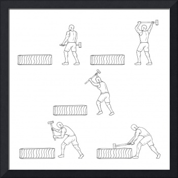 Fitness Athlete Hammer Workout Collection Set