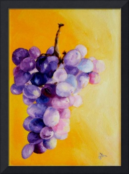 Grapes On Yellow