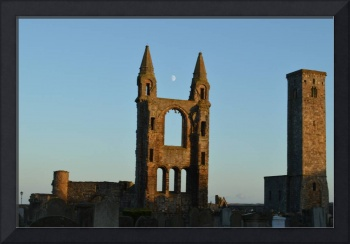 Moon Over St Andrews Cathedral