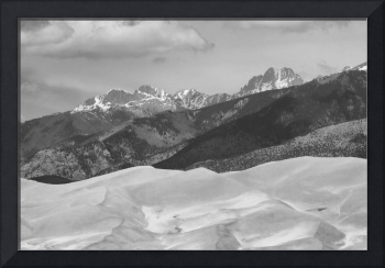 The Great Sand Dunes  BW Print 45