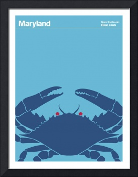 State Posters - Maryland State Crustacean: Blue Cr