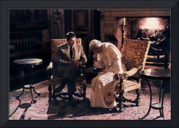 President Reagan conferring with Pope John Paul II